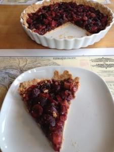 Cherry Rhubarb Tart
